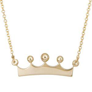 Γυναικείο κολιέ Κ9 κορώνα 027163 027163 Χρυσός 9 Καράτια