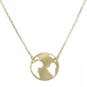 Χρυσό κολιέ Κ14 υδρόγειος 028996 028996 Χρυσός 14 Καράτια