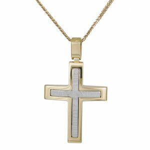 Βαπτιστικοί Σταυροί με Αλυσίδα Δίχρωμος Βαπτιστικός Σταυρός με Αλυσίδα 033241C 033241C Ανδρικό Χρυσός 14 Καράτια