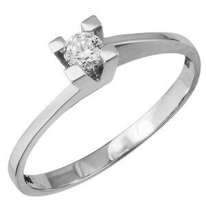 Λευκόχρυσο μονόπετρο δαχτυλίδι με διαμάντι Κ18 038573 038573 Χρυσός 18 Καράτια