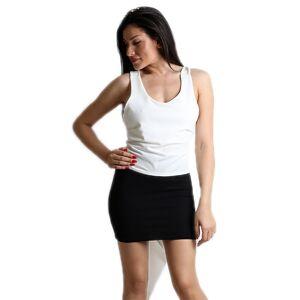 CHICA Λευκή μπλούζα με δέσιμο και ουρά - Λευκό - Μέγεθος: One Size
