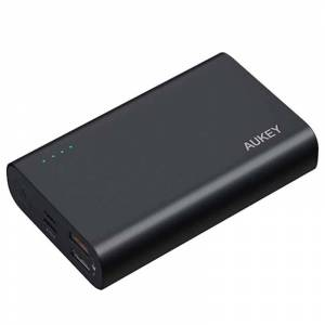 Aukey 10000mAh PD & Quick Charge 3.0 Power Bank - Black