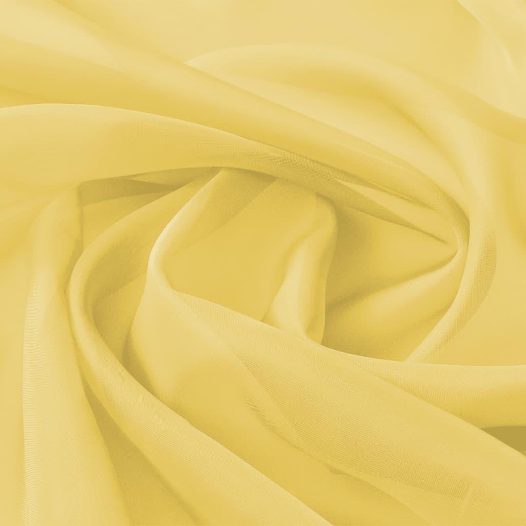 vidaXL Ύφασμα Βουάλ Κίτρινο 1,45 x 20 μ.