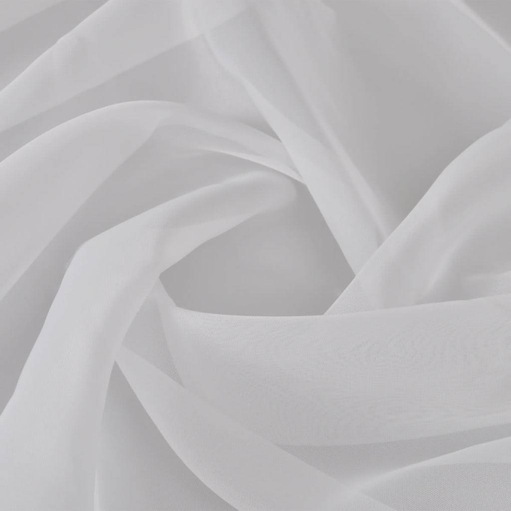 vidaXL Ύφασμα Βουάλ Λευκό 1,45 x 20 μ.