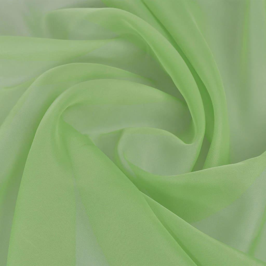 vidaXL Ύφασμα Βουάλ Πράσινο 1,45 x 20 μ.