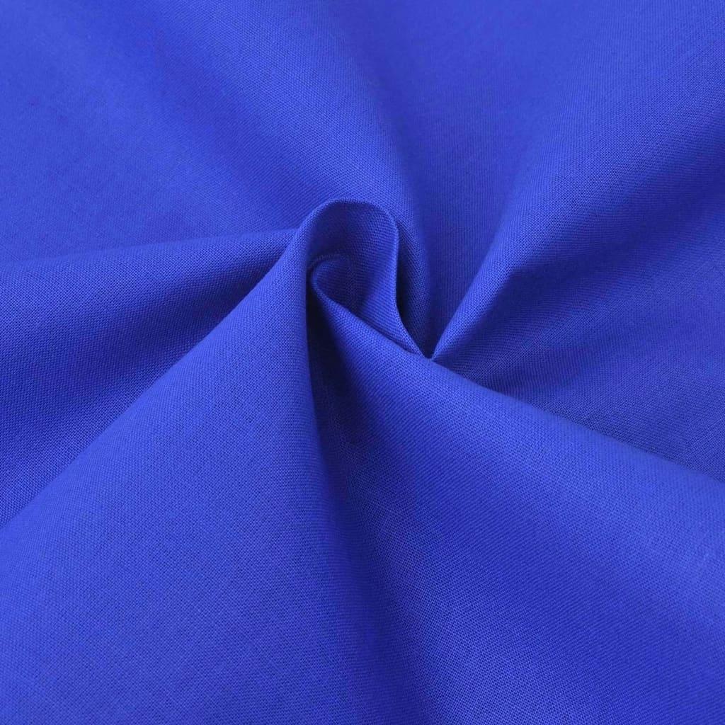 vidaXL Ύφασμα Μπλε 1,45 x 20 μ. Βαμβακερό