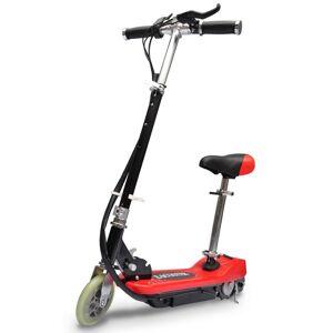 vidaXL Πατίνι Ηλεκτρικό με Κάθισμα-Σέλα 120 W Κόκκινο