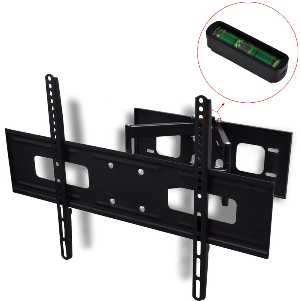 vidaXL Βάση Τηλεόρασης 3D Κεκλιμένη & Περιστρεφόμενη Επιτοίχια Διπλό Βραχίονα