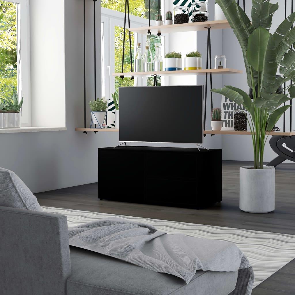 vidaXL Έπιπλο Τηλεόρασης Μαύρο 80 x 34 x 36 εκ. από Μοριοσανίδα