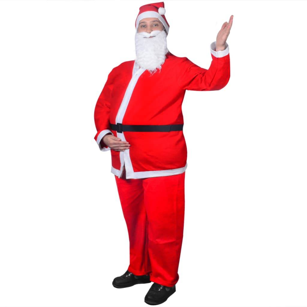 vidaXL Στολή Αγίου Βασίλη Σετ Χριστουγεννιάτικο Κοστούμι