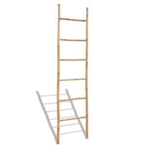vidaXL Μπαμπού Διακοσμητική Σκάλα για Πετσέτες με 6 Σκαλοπάτια