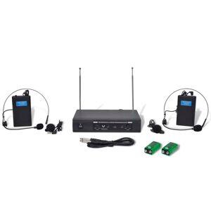 vidaXL Δέκτης με 2 Ασύρματα Ακουστικά VHF