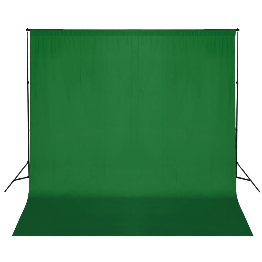 vidaXL Σύστημα Στήριξης & Φωτογραφικό Φόντο Πράσινο 600 x 300 εκ.