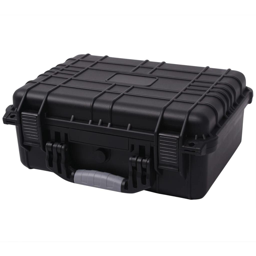 vidaXL Βαλίτσα Εξοπλισμού Προστατευτική Μαύρη 40,6 x 33 x 17,4 εκ.