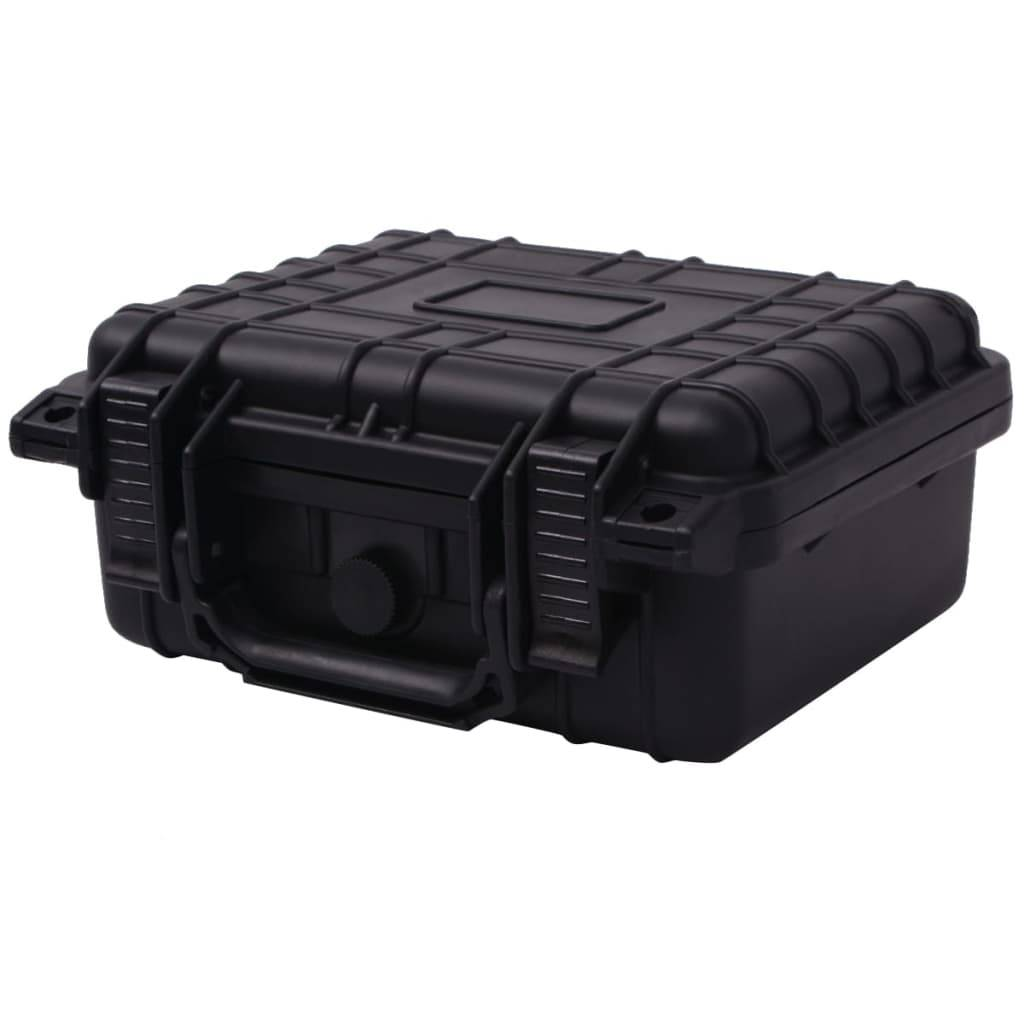 vidaXL Βαλίτσα Εξοπλισμού Προστατευτική Μαύρη 27 x 24,6 x 12,4 εκ.