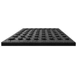 vidaXL Πλάκες Δαπέδου Ασφαλείας 24 τεμ. Μαύρες 50x50x3 εκ. Καουτσούκ
