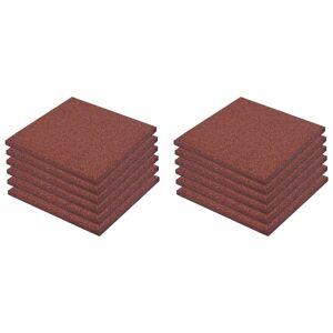 vidaXL Πλάκες Δαπέδου Ασφαλείας 12 τεμ. Κόκκινες 50x50x3 εκ. Καουτσούκ