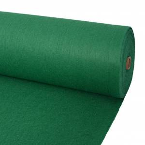 vidaXL Μοκέτα Επαγγελματική Απλή Πράσινη 1 x 12 μ.