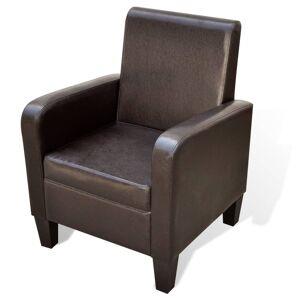 vidaXL Πολυθρόνα Καφέ από Συνθετικό Δέρμα