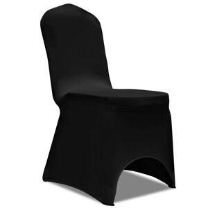 vidaXL Κάλυμμα καρέκλας ελαστικό Μαύρο 50 τμχ
