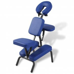 vidaXL Καρέκλα Μασάζ Πτυσσόμενη & Φορητή Μπλε