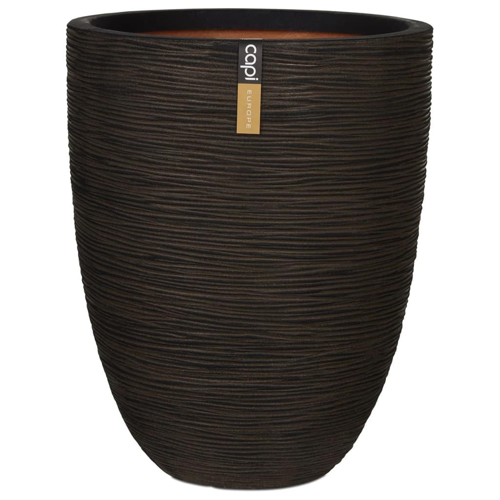 Capi Βάζο Nature Rib Elegant Low Καφέ 46 x 58 εκ. KOFΒ783