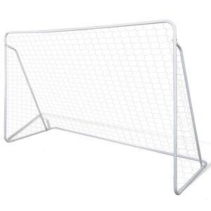 vidaXL Σετ Τέρμα Ποδοσφαίρου με Δίχτυ 240 x 90 x 150 εκ. από Ατσάλι