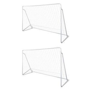 vidaXL Τέρματα Ποδοσφαίρου 2 τεμ. 240 x 90 x 150 εκ. Ατσάλινα