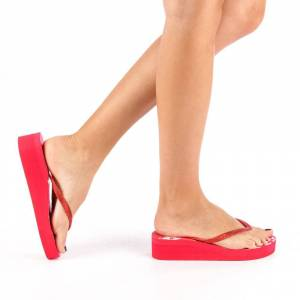 Kalapod Γυναικείες Παντόφλες Grette κόκκινα