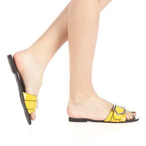 Kalapod Γυναικεία παντόφλες Zimar κίτρινα