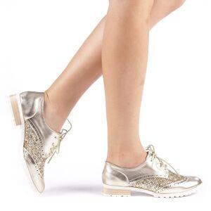 Kalapod Γυναικεία παπούτσια Rolena χρύσαφη