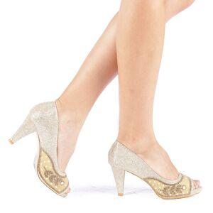 Kalapod Γυναικεία Παπούτσια Meyra χρυσαφί
