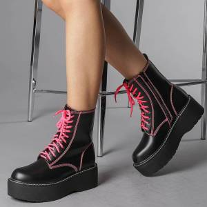 Kalapod Γυναικεία μπότακια Sigina φούξια