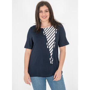 RAVE Μπλε μπλούζα με ριγέ σχέδιο - Μπλε,Ριγέ, - Μέγεθος: 48-50,