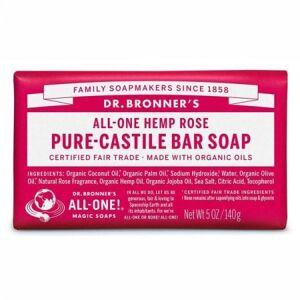 DR. BRONNER`S Pure - Castile Bar Soap 140gr-Rose