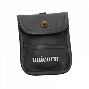 ACCESSORY POUCH BLACK PU LEATHER