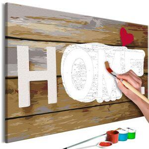 PoliHome Πίνακας για να τον ζωγραφίζεις - Home with Heart 60x40
