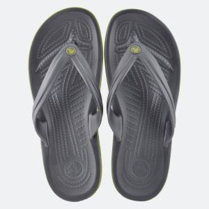 Crocs Crocband Flip   Ανδρική Σαγιονάρα 11033-0A1 Graphite/Volt Green