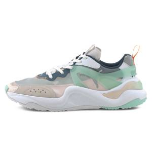 Puma Rise Women's Shoes 371777-01 Puma White-Mist Green-Cantaloupe