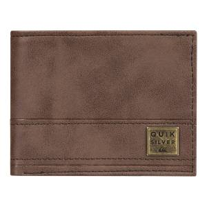 Quiksilver New Stitchy Tri-Fold Men's Wallet EQYAA03900-CSD0 CHOCOLATE BROWN