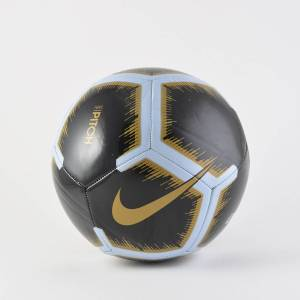 Nike Pitch Ball No. 5 SC3316-011 BLACK/WHITE/MTLC VIVID GOLD