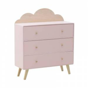 Inart Παιδική Συρταριέρα InArt Σύννεφο Ροζ 3-50-876-0008