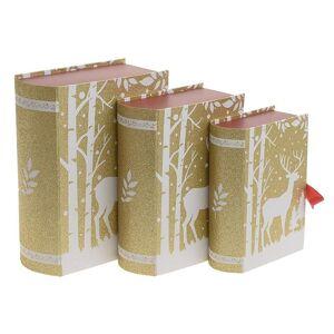 Inart Χριστουγεννιάτικα Κουτιά (Σετ 3τμχ) InArt 2-70-926-0018