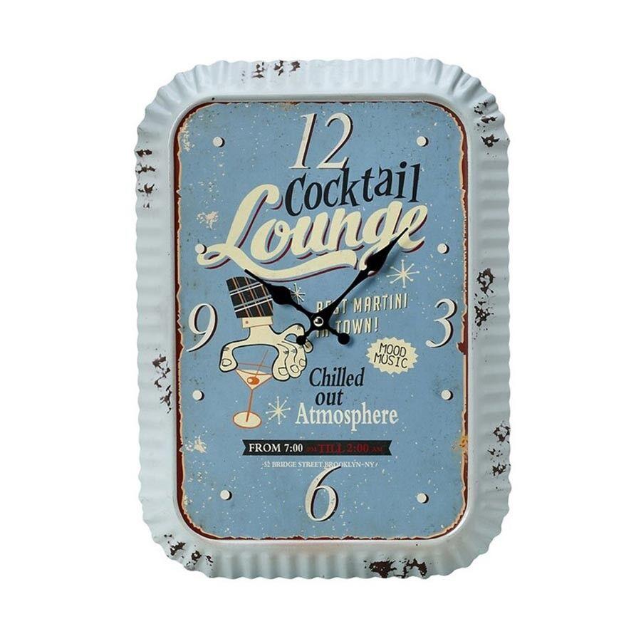 Espiel Ρολόι Τοίχου Cocktail Lounge Espiel LOG233