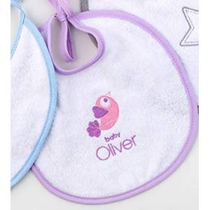 Baby Oliver Σαλιάρα Baby Oliver Lilac Dream Birds 300