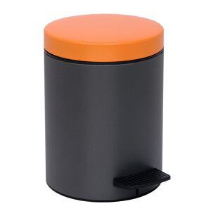 PamCo Κάδος Απορριμμάτων (20x28) PamCo 5Lit 113 Anthracite/Orange Matt
