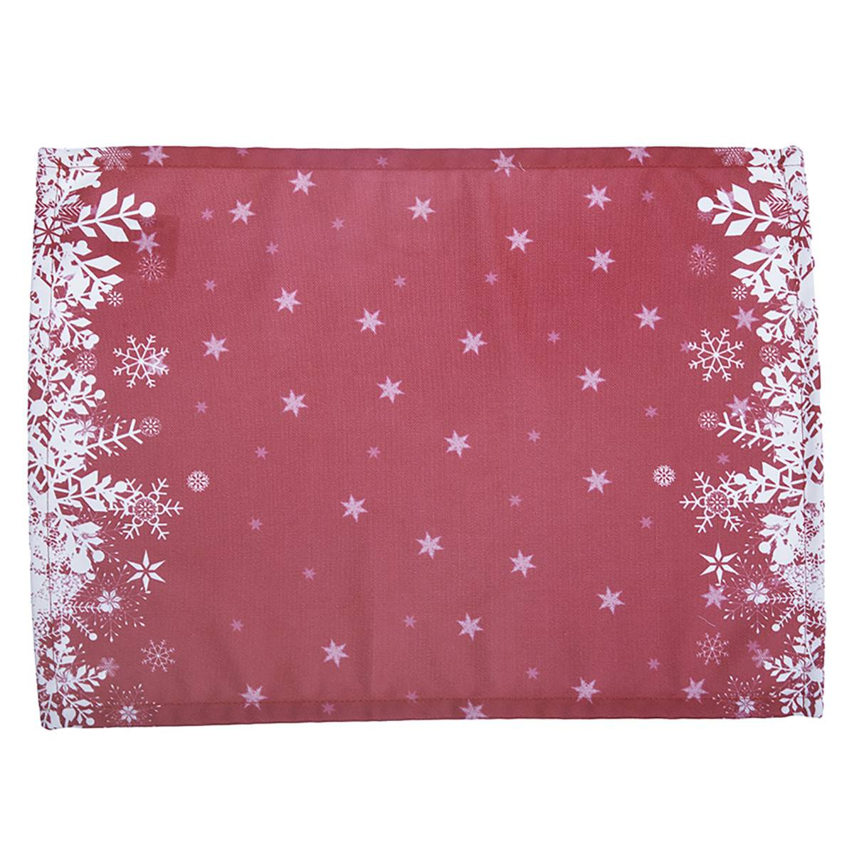Apolena Χριστουγεννιάτικα Σουπλά (Σετ 2τμχ) Apolena Snow Red 790-5611/2