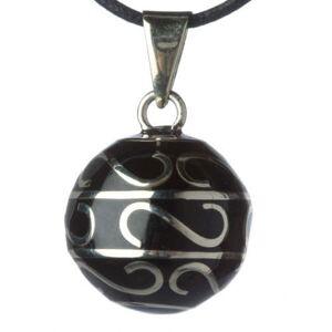 Babylonia Bola Μενταγιόν Εγκυμοσύνης Black Swirls Silver, 1 τμχ