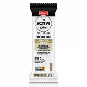 Lanes Active Club Energy Bar, Μπάρα Ενέργειας Με Μαγνήσιο & Γεύση Σοκολάτα, 40g