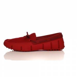 SWIMS - Ανδρικά μοκασίνια SWIMS LACE LOAFER DRIVER κόκκινα  - Size: 45